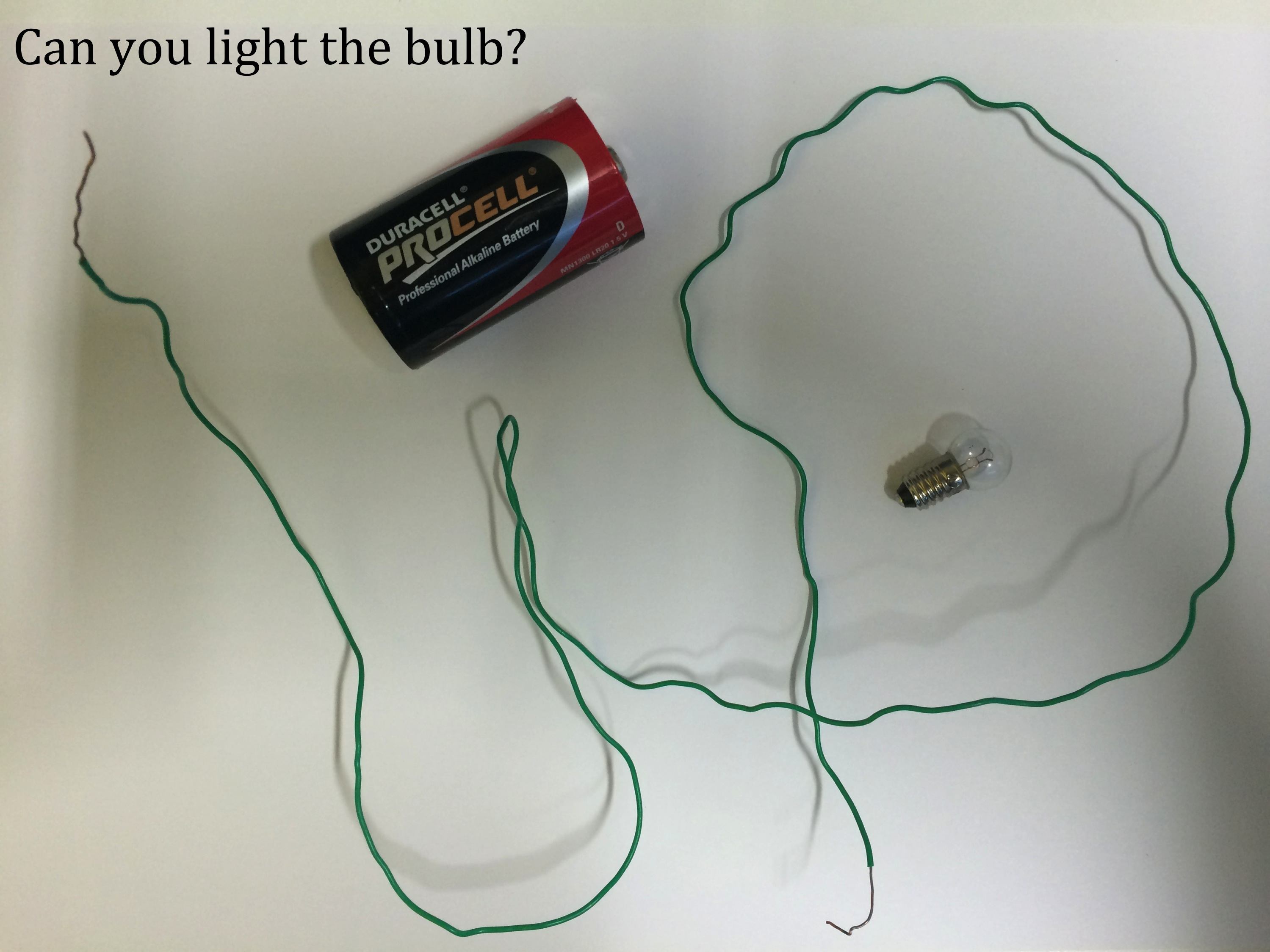 Electricity And Electric Circuits Teaching Resources The Science Lessons Exercises Practice Tests Ask Students To Light A Bulb Using Only Wire Battery This Simple Activity Often Challenges Many Think It Is Impossible Do With