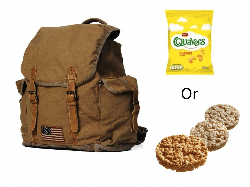 Quavers or rice cakes? Let's investigate