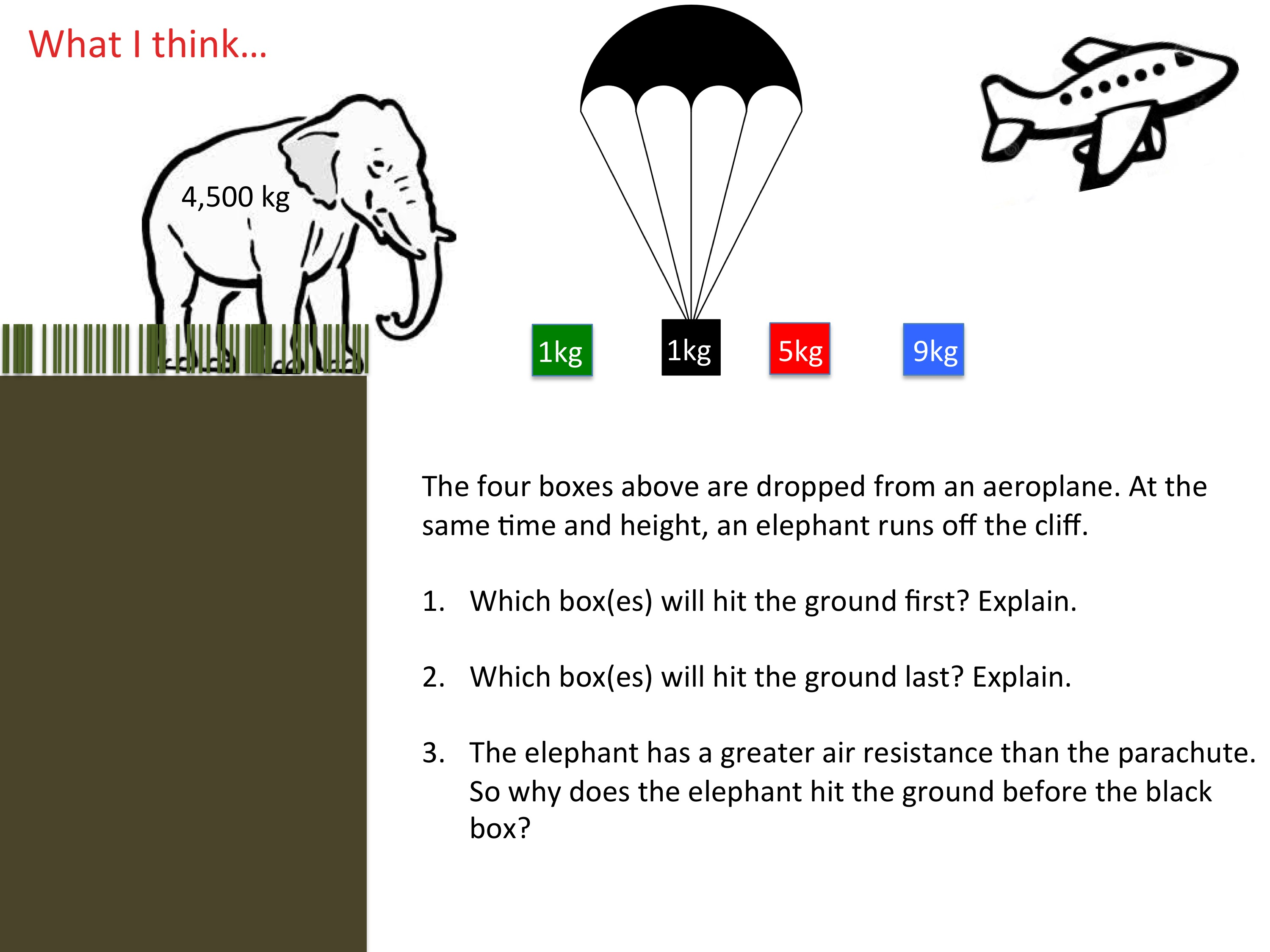 Elephants In Free Fall >> Weight Gravity And Free Fall The Science Teacher